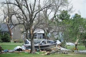 Los tornados durante el fin de semana han sido altamente destructivos. (Joe Ahlquist/The Argus Leader via AP)