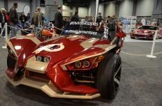 """Este auto """"polaris"""" de tres ruedad, REDSKINS, recordando el haber sido Campeones en los años 1982, 1987 y 1991."""