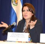 Karina Sosa es la presidenta de la Comisión de Relaciones Internacionales de la Asamblea Legislativa en El Salvador.   Foto: Álvaro Ortiz/WH