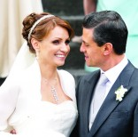 La boda entre Peña Nieto y 'la Gaviota' fue difundida como un gran acontecimiento social y político, se celebró en noviembre de 2010. Foto: Cortesía. FOTO: ISAAC ESQUIVEL/CUARTOSCURO.COM