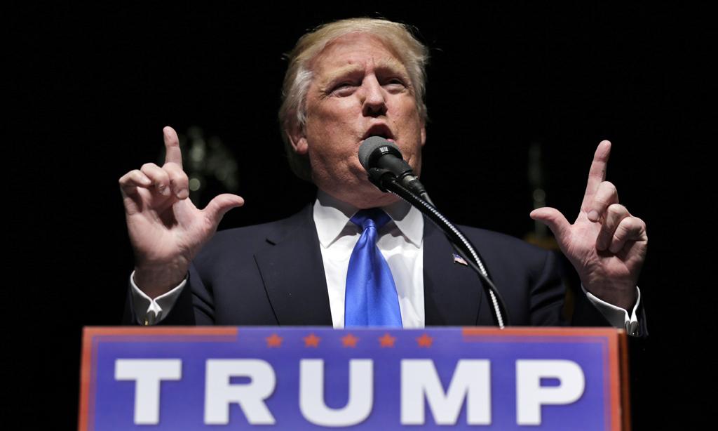 El virtual candidato republicando a la presidencia de EE.UU., Donald Trump. (AP Photo/Charles Krupa)