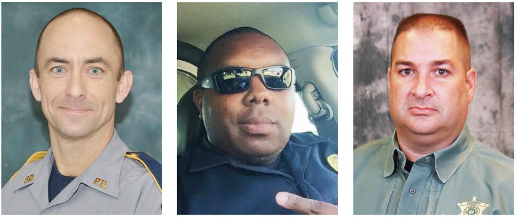 Matthew Gerald, Montrell Jackson y Brad Garafola fueron los oficiales de policía que perdieron la vida tras la muerte de personas de raza negra a manos de la policía. Fotos: AP.