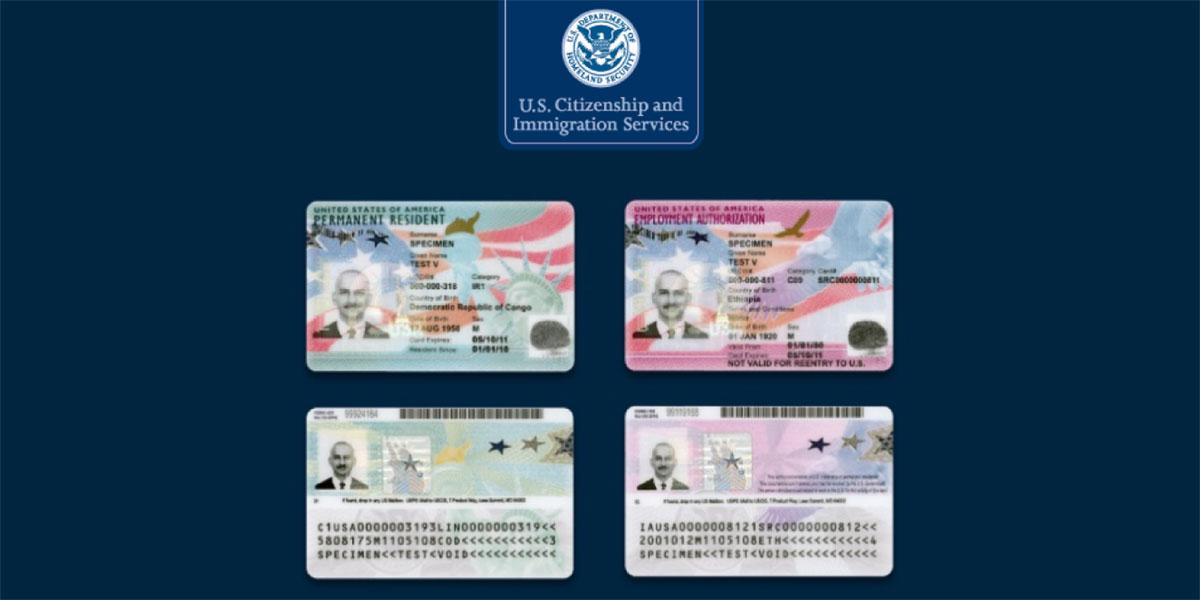 USCIS rediseña Tarjetas Verde y Documentos de Autorización de Empleo