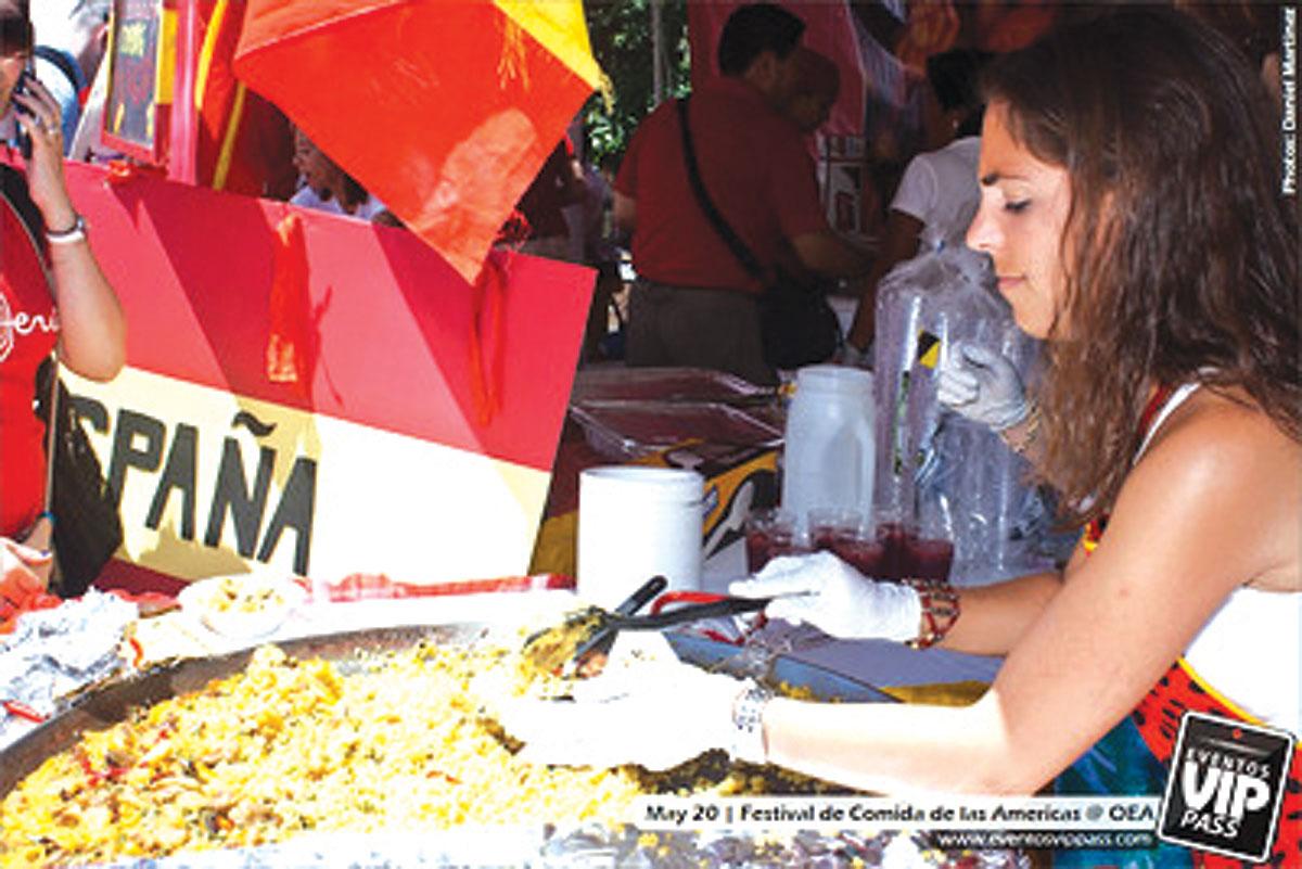 Festival de comida de las Américas en los jardines de la OEA