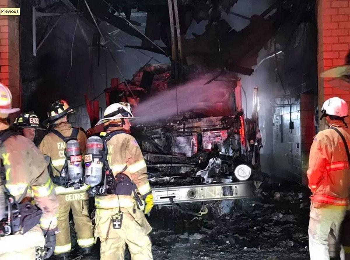 Incendio hace cerrar  estación de bomberos