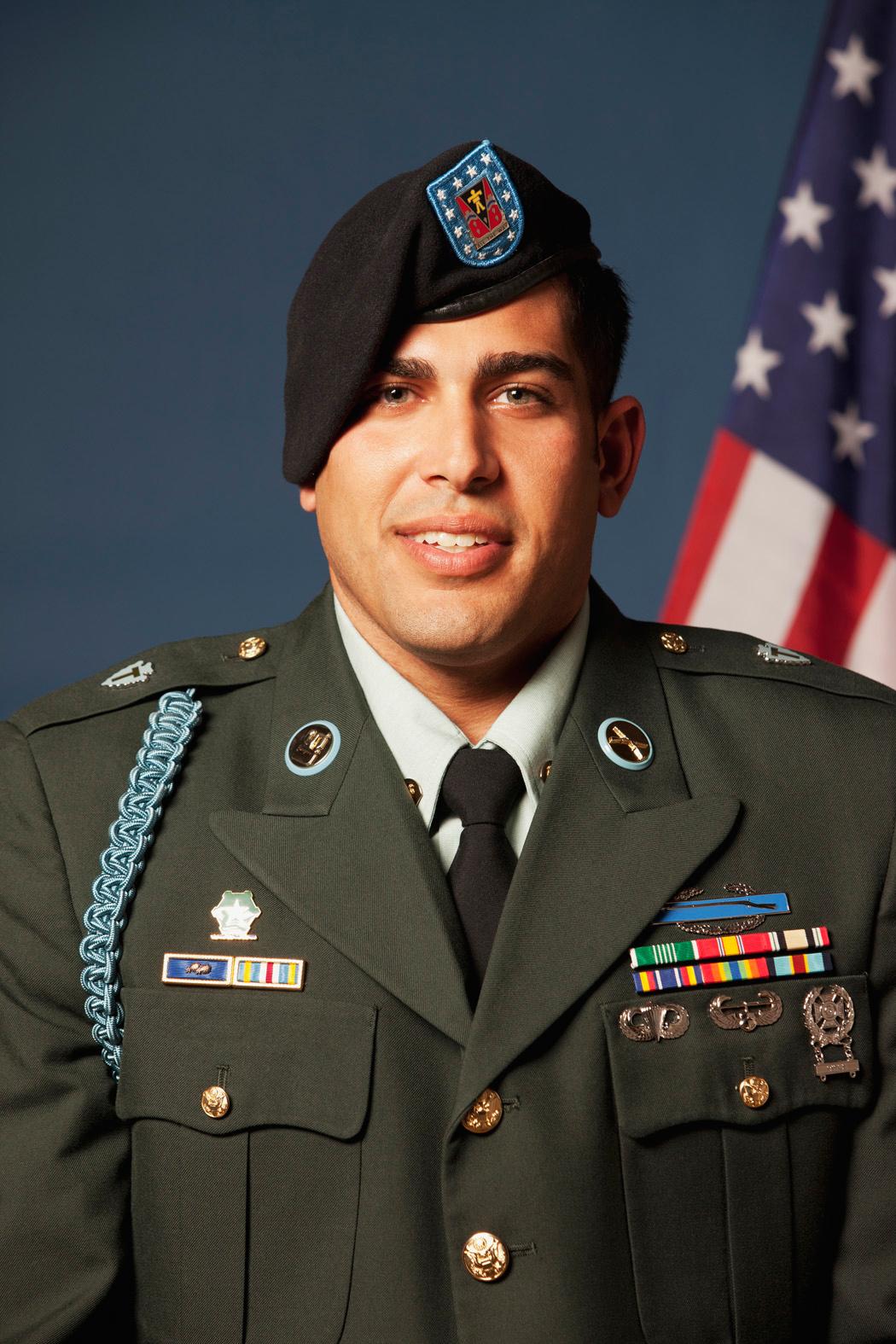 Caucasian soldier in uniform