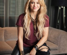 FILE - In this May 16, 2017 photo, Colombian performer Shakira poses for a portrait in New York to promote her 11th album