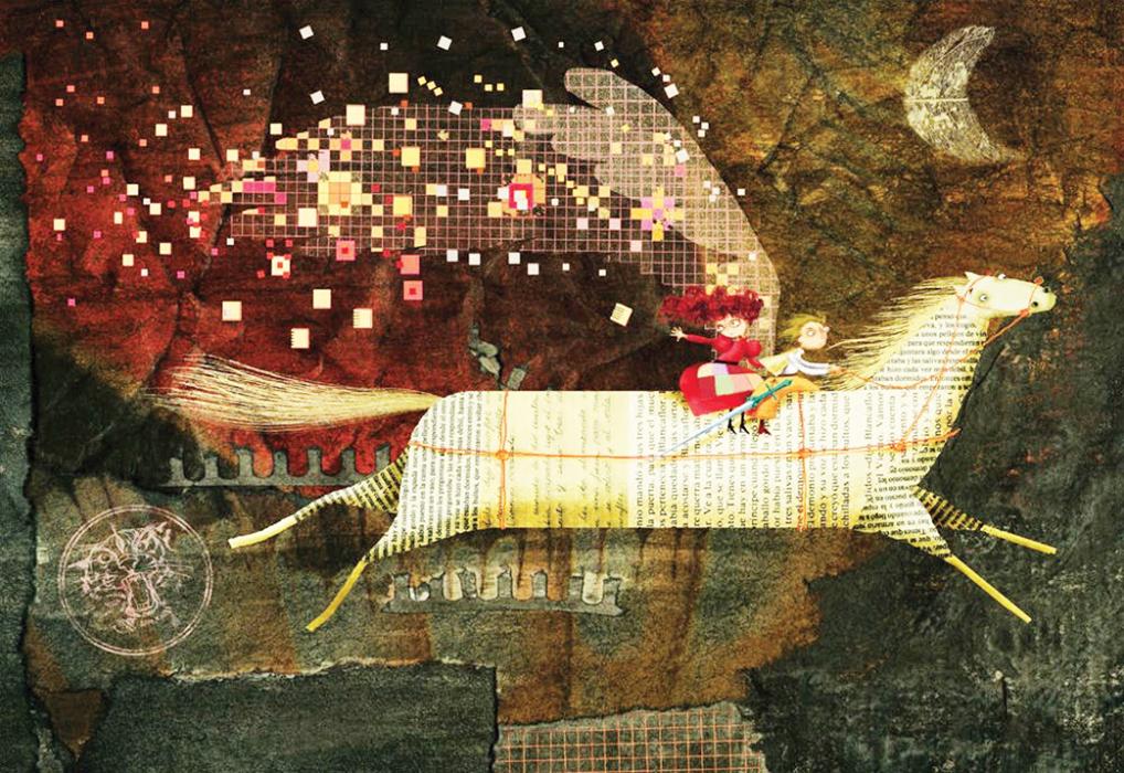 A bilingual fairy tale about a brave magic maiden. Illustration by Tesa González, www.tesagonzalez.com