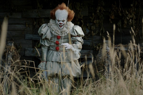 This image released by Warner Bros. Pictures shows Bill Skarsgard in a scene from