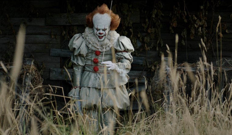 """This image released by Warner Bros. Pictures shows Bill Skarsgard in a scene from """"It."""" (Warner Bros. Pictures via AP)"""
