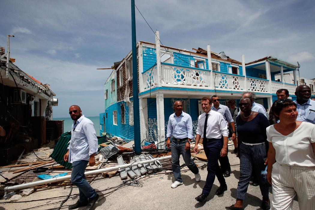 Presidente francés promete ayuda para el Caribe tras Irma