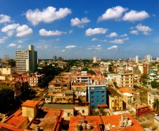 This image provided by Chris Allen shows the view in Havana, Cuba, from his hotel room - room 1414 - at Hotel Capri in April 2014. AllenÕs phone started buzzing as word broke of invisible attacks hitting a U.S. government worker at HavanaÕs Hotel Capri. AllenÕs friends and family had heard an eerily similar story from him before. The tourist from South Carolina had cut short his trip to Cuba two years earlier after numbness spread through all four of his limbs, just minutes after he climbed into bed at the same hotel. Those werenÕt the only parallels in AllenÕs recounting, which put him in a growing list of Americans with no government connections, asking the same alarming but unanswerable question: Were we victims, too? (Chris Allen via AP)