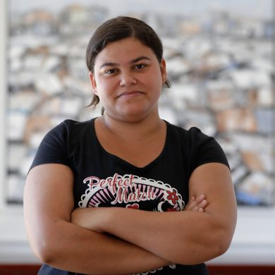 Rebeca Mendes poses for a photo during an interview in Sao Paulo, Brazil, Monday, Dec. 11, 2017. Mendes filed a case with the Supreme Court in late November seeking to have an abortion when she was six weeks pregnant, but the court rejected her request so while waiting for a decision on another petition she traveled to Colombia and had an abortion there. (AP Photo/Andre Penner)