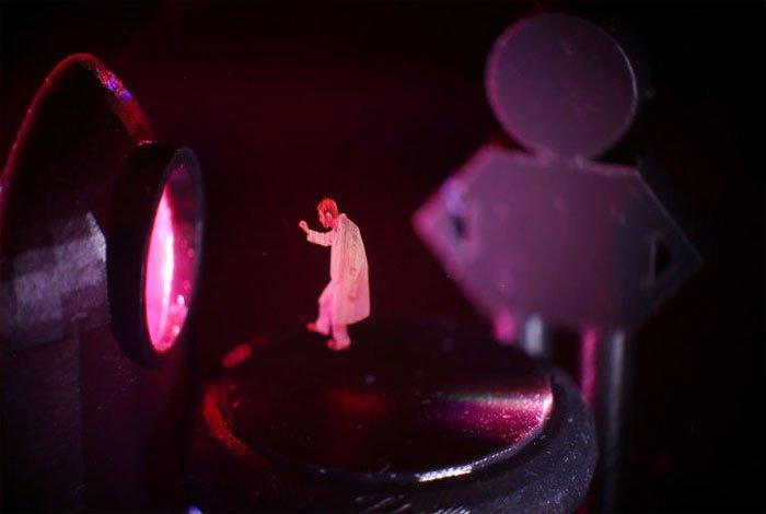 Mejor que hologramas: una proyección 3D en el aire