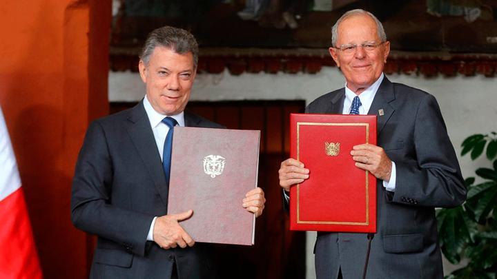 Colombia y Perú firman convenios de cooperación