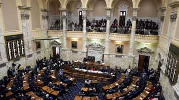Members of Maryland's House of Delegates meet in the House chamber in Annapolis, Md., Wednesday, Jan. 11, 2017, the first day of the 2017 legislative session. (AP Photo/Patrick Semansky)