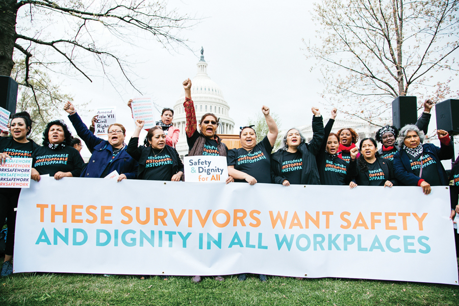 Trabajadoras dicen ¡Basta!  de acoso y violencia sexual