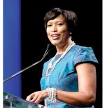 Washington Mayor Muriel Bowser speaks after taking the oath of office at the District of Columbia Mayoral Inauguration ceremony at the Convention Center in Washington, Friday, Jan. 2, 2015. (AP Photo/Carolyn Kaster)