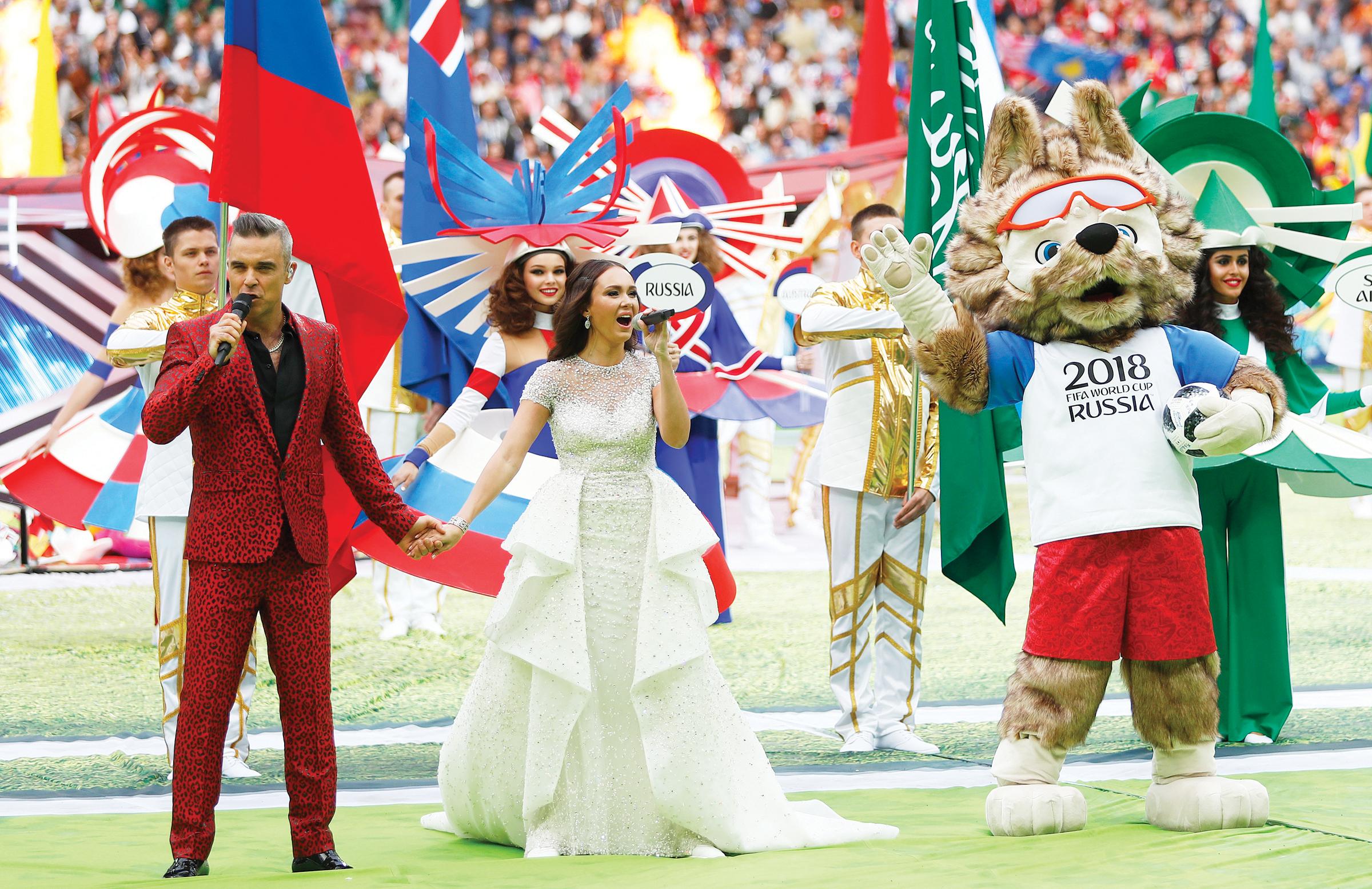 Música y coloridos adornan el Mundial de Rusia