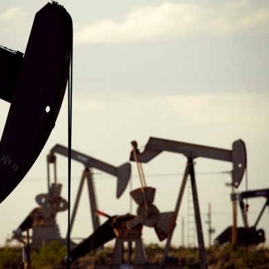 FILE - In this April 24, 2015 file photo, pumpjacks work in a field near Lovington, N.M. The United States may have reclaimed the title of the world's biggest oil producer sooner than expected. The U.S. Energy Information Administration said Wednesday that America