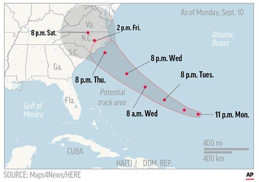 A la espera de Florence, huracán potencialmente catastrófico