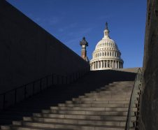 The Capitol is seen on the morning after Election Day as Democrats took back the House with a surge of fresh new candidates and an outpouring of voter enthusiasm ending eight years of Republican control, in Washington, Wednesday, Nov. 7, 2018. (AP Photo/J. Scott Applewhite)