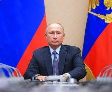 Russian President Vladimir Putin chairs a Security Council meeting in the Kremlin in Moscow, Russia, Thursday, Nov. 29, 2018. (Alexei Druzhinin, Sputnik, Kremlin Pool Photo via AP)