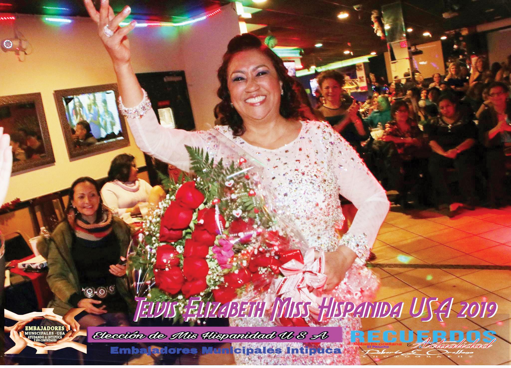 Elijen a Telvis Elizabeth  Miss Hispanidad USA