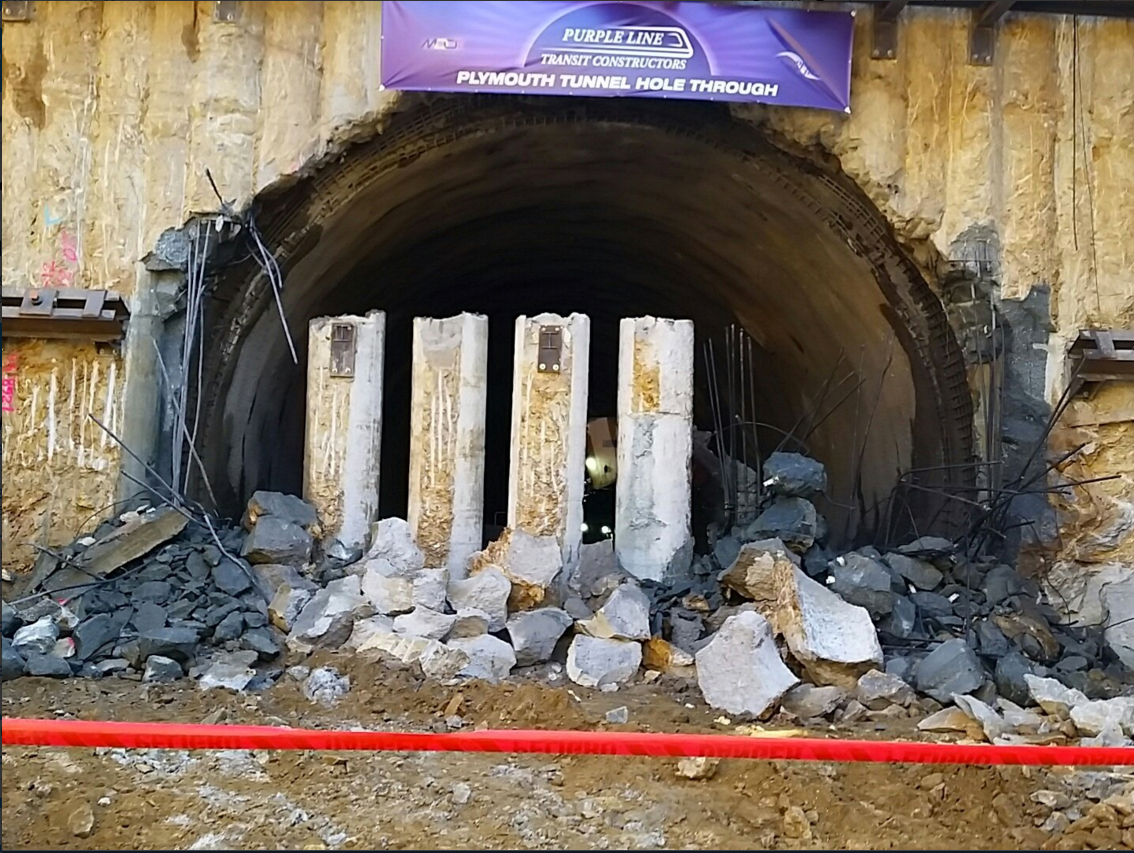 Culminan túnel de Línea Morada