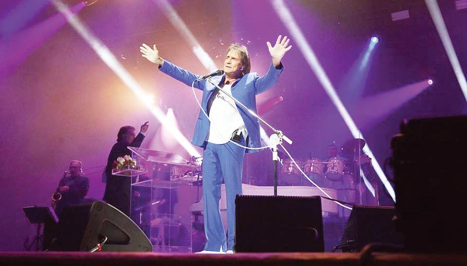 Roberto Carlos en concierto el domingo 17 de marzo