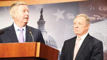 Foto 1-Senadores Lindsey Graham y Dick Durbin