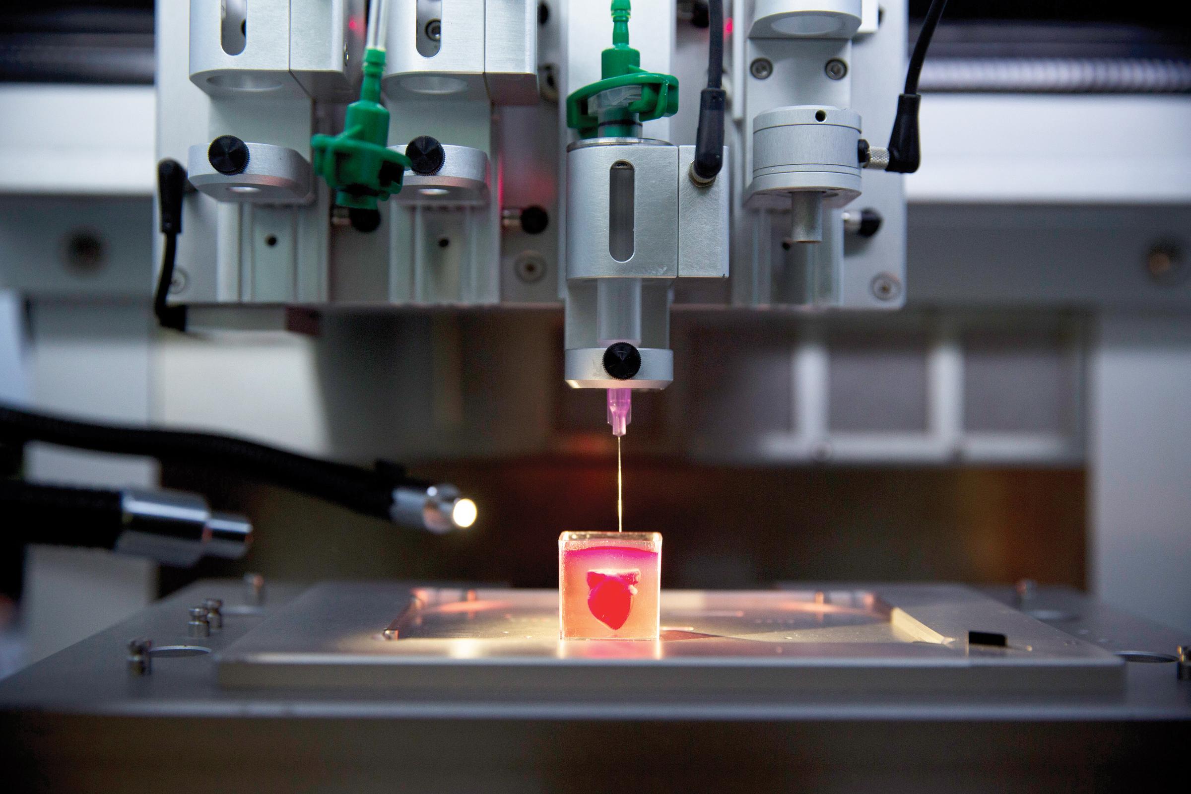 Imprimen corazón 3D en Israel