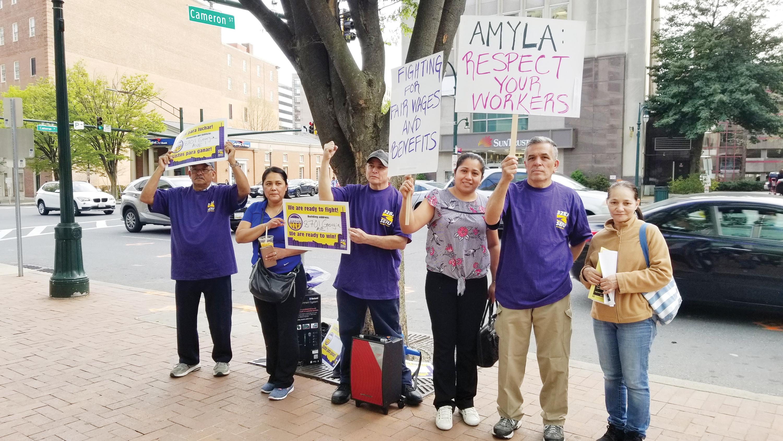 Trabajadores en sindicato protestan en Silver Spring