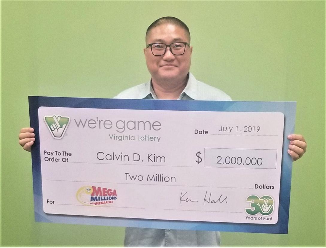 Hombre de VA gana $2 millones en la lotería