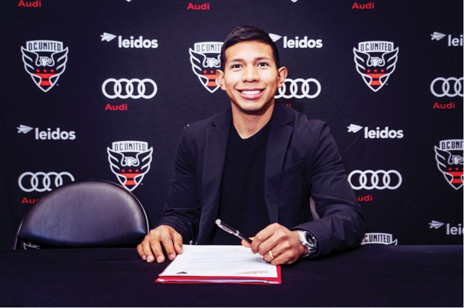 D.C. United firma a Edison Flores