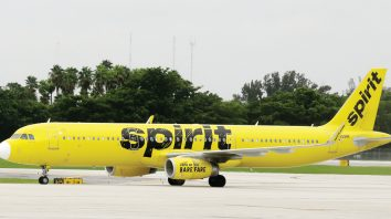 A Spirit passenger plane arrives, Wednesday, Aug. 31, 2016, at the Fort Lauderdale-Hollywood International Airport in Fort Lauderdale, Fla. (AP Photo/Alan Diaz)