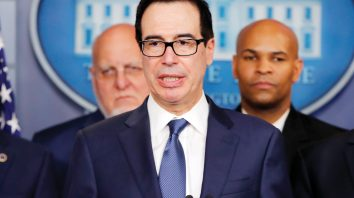 Treasury Secretary Steven Mnuchin speaks in the briefing room of the White House in Washington, Monday, March, 9, 2020, about the coronavirus outbreak. (AP Photo/Carolyn Kaster)