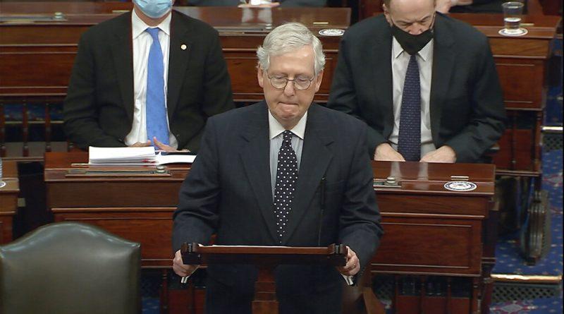 McConnell no convocará al Senado para juicio político