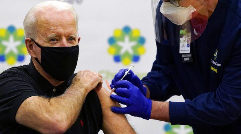 Biden recibe segunda dosis de vacuna contra COVID-19
