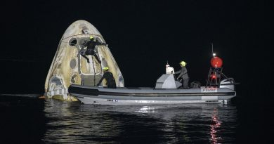 Nave de SpaceX regresa a Tierra con 4 astronautas
